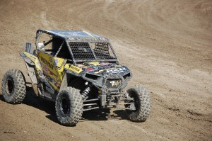 Jeremy Merrell 977 stood on top of the podium in the GMZ Unlimited UTV / Walker Evans Racing RZRE event
