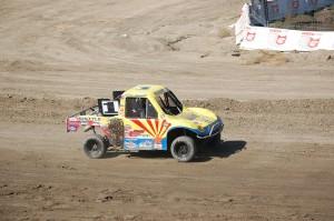 Luke Knupp (1) grabbed the second spot on the last lap