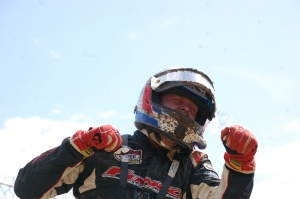 Garrett George was pumped with his Pro Buggy Unlimited win.