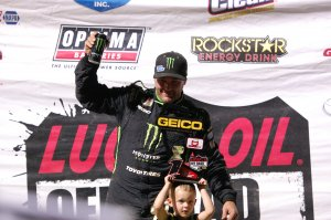 Kyle LcDuc won the Pro 4 Unlimited event and shared the podium with his son